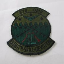379 OMS Green Quality Skill Devotion Wurtsmith AFB, Michigan Subdued AF Patch