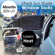 Sun Shade Car Door Window Socks Cover 2Pcs Lower Heat and UV Block Summer Best