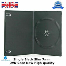 50 Single Black Slim 7 mm DVD Case High Quality New Replcement Case