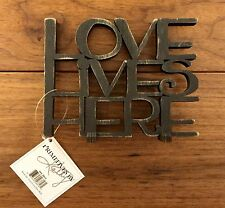 LOVE LIVES HERE wooden word art 5-1/2 x 4-1/4 Primitives by Kathy
