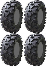 Four 4 Kenda Bearclaw ATV Tires Set 2 Front 26x9-12 & 2 Rear 26x11-12 K299