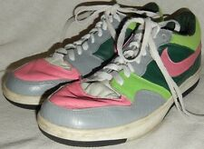 NIKE SWOOSH Court Force size 7 mens gray green pink sneaker RETRO Awesome s