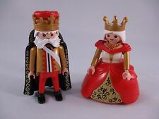 PLAYMOBIL 7773 KING & QUEEN RED/GOLD/BLACK HOOP DRESS EXCELLENT - 100% COMPLETE*