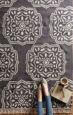 ANTHROPOLOGIE GREY FLORIATE  MEDALLION RUG NWOT $699