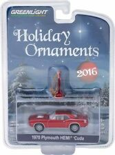 GREENLIGHT 2016 HOLIDAY ORNAMENTS 1970 PLYMOUTH HEMI CUDA DIECAST CAR 40010-A