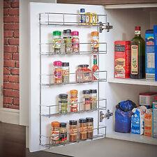 Tarro de rack de 5 pisos de salsa de especias/Botella De Almacenamiento Estante Para Armario De Cocina Puerta