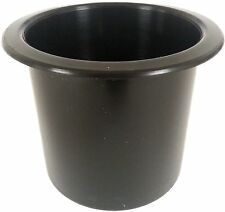 "Black Plastic Cup Holder Boat RV Car Truck Insert Regular Truck 2 7/8"" Size"