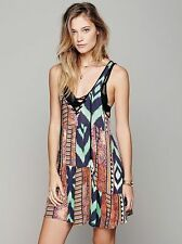 Free People One Teaspoon Confession Mini Tribal Printed Lace Up Dress Size Small