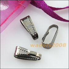 40 New Gunmetal Black Plated Connectors Necklace Clip Bail End 4x11mm
