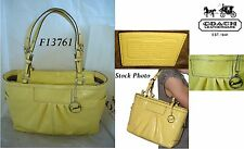 Coach Yellow Patent Leather East West Gallery Tote Bag #13761