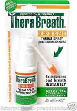 NEW THERABREATH FRESH BREATH THROAT SPRAY ORAL DENTAL CARE HEALTH KOSHER 30 ml