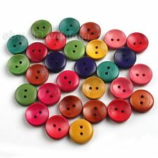 120x Mixed 2 Holes Sculpture Sewing Wooden Buttons Craft Scrapbooking On Sale C