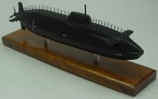 HMS Astute Nuclear Submarine UK Desktop Kiln Dry Wood Model Small