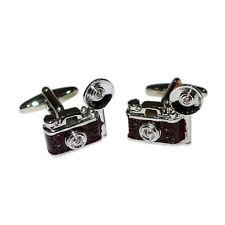 Retro Camera With Flash Bulb Cufflinks & Gift Pouch Vintage Photography
