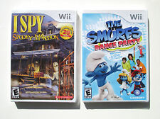 I Spy Spooky Mansion  + Smurfs Dance Party  Wii games  NEW    C2