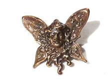 Collection bouton à queue ancien elfe papillon bronze  XXème 20ème button