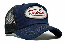 VON van DUTCH MESH TRUCKER BASE CAP [DENIM BLUE BLACK] KAPPE MÜTZE BASECAP  Von