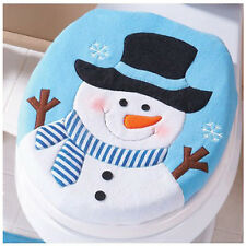 Christmas Toilet Cover Decoration Christmas Snowman Lid Single Toilet Cover New