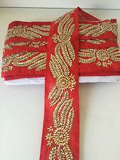 1 mètre indian kundan zari bordure dentelle ethnique argent métallisé ruban travail dentelle