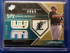 Ivan Rodriguez 2003 SPx Winning Materials Game Used Jersey Florida Marlins /250