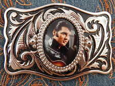 New Exclusive Belt Buckle Silver/Black Elvis Presley,Western Music Rock N Roll