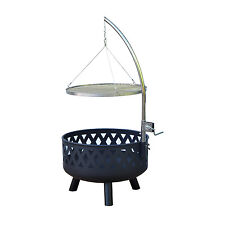 Outdoor BBQ Grill Charcoal Barbecue Patio Smoker Cooking Fire Pit Heater Stove