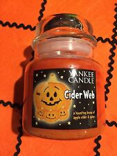 Yankee Candle CIDER WEB Brew Of Apple Cider& Spice fragrant candle 14.5 Oz NWT