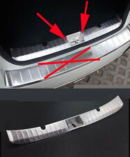 Rear Door Sill Protector within Bumper for 2012-2016 Subaru XV Stainless Steel