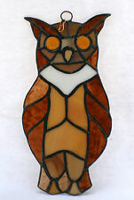 NEW OWL Stained Glass Wall Hanging~ NICE! 2004