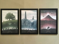 "3pcs Solid frame - 002 Lord Of The Rings 12""x16"" Minimalist Wall Decor Poster"