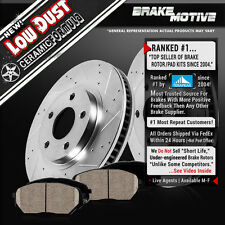 FRONT KIT DRILLED AND SLOTTED BRAKE ROTORS & CERAMIC PADS 2004 - 2009 Audi S4