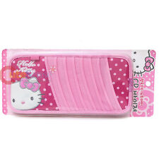 Sanrio Hello Kitty CD Visor Organizer  Pink Polka Dots  Auto Accessory