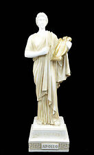 Apollo with Lyre Alabaster statue patina aged Ancient Greek God of light