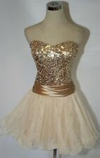 NWT SPEECHLESS $85 Gold Cocktail Prom Party Dress 9