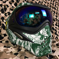 NEW V-Force Grill Thermal Paintball Mask - SE Zombie (w/ Green Chrome Lens)