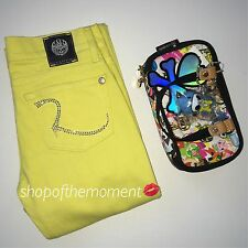 Rock & Republic♚Kiedis Jeans♚Crystallized with Swarovski®♚Sun King Yellow♚23 NWT