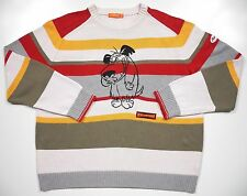 ICEBERG HISTORY MENS 3XL SWEATER VINTAGE RARE MUTTLEY LOGO STRIPE MADE IN ITALY