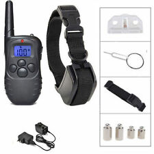 328 Yard Rechargeable LCD 100LV Level Shock Vibra Remote Pet Dog Training Collar