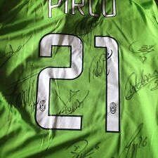 PIRLO ITALY JUVENTUS 2014 2015 GREEN AWAY SIGNED BY VIDAL EVRA LICHSTEINER ...