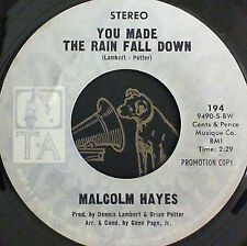 Northern Soul 45 Malcolm Hayes You made the rain fall down TA 194