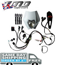 Enduro Motorcycle Complete Full Light Kit Indicators Loom Electric Start - Kick