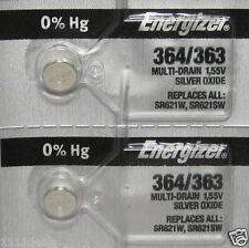 Button Cell Type 364 Zero Mercury Battery Energizer 2 Pcs
