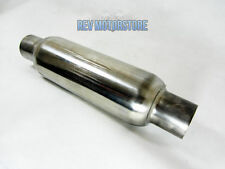 "4"" Bullet Silencer 2.5"" 63mm Inlet 12"" Stainless Steel Exhaust Middle Back Box"