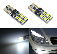 4Pcs 24SMD Bright White LED Error Free Eyebrow Eyelid Light For Benz W204 C300