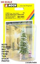 NOCH 11912 HO Scale White Lighted Christmas Tree Santa Claus Sleigh NEW $0 Ship