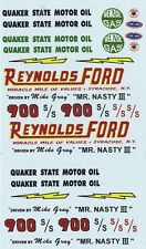 Mike Gray Reynolds Ford Mr Nasty III Thunderbolt '64 1/25th -1/24th Scale Decals