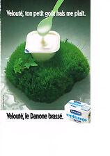 PUBLICITE  1981   DANONE  yaourt velouté brassé