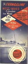 1955 SS Evengeline West Indies Cruises from Miami Travel Brochure