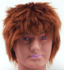 Messy Mop Head Style Ginger Wig Teenage Boy Emo Rocker Fancy Dress