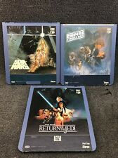 Star Wars CED Videodisc Set New Hope Empire Strick Back & Return Of The Jedi